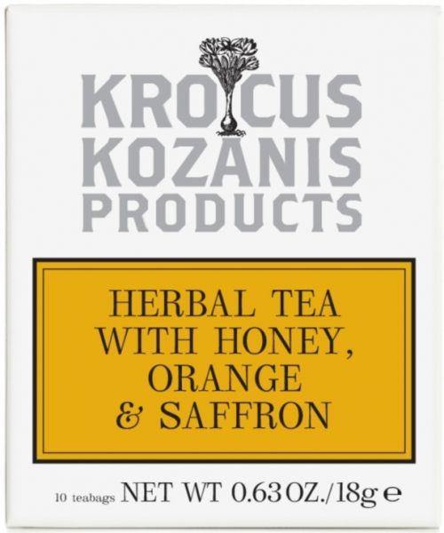 Krocus Kozanis Herbal Tea with Honey Orange and Saffron