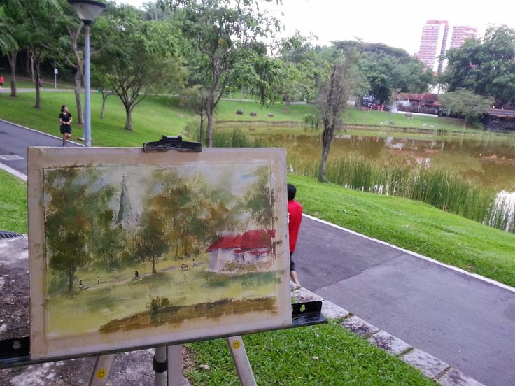 My Arts and Creatives: Plein air painting in Punggol Park