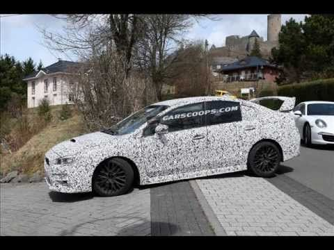 """2015 Subaru WRX STI caugh testing in Germany - We can't tell if this is the finaly version or if this might be just an """"imprezza WRX"""" that will lead to the more agressively styled WRX STI. It could also be a test mule.    Photo credits to http://www.Carscoops.com    More information on this cars horsepower, specs, price, released date, torque, Trans..."""