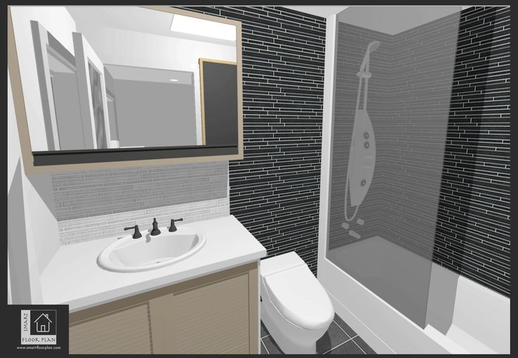 Kinsale Apartment 3D views Bath. Smart Floor Plan. Ireland