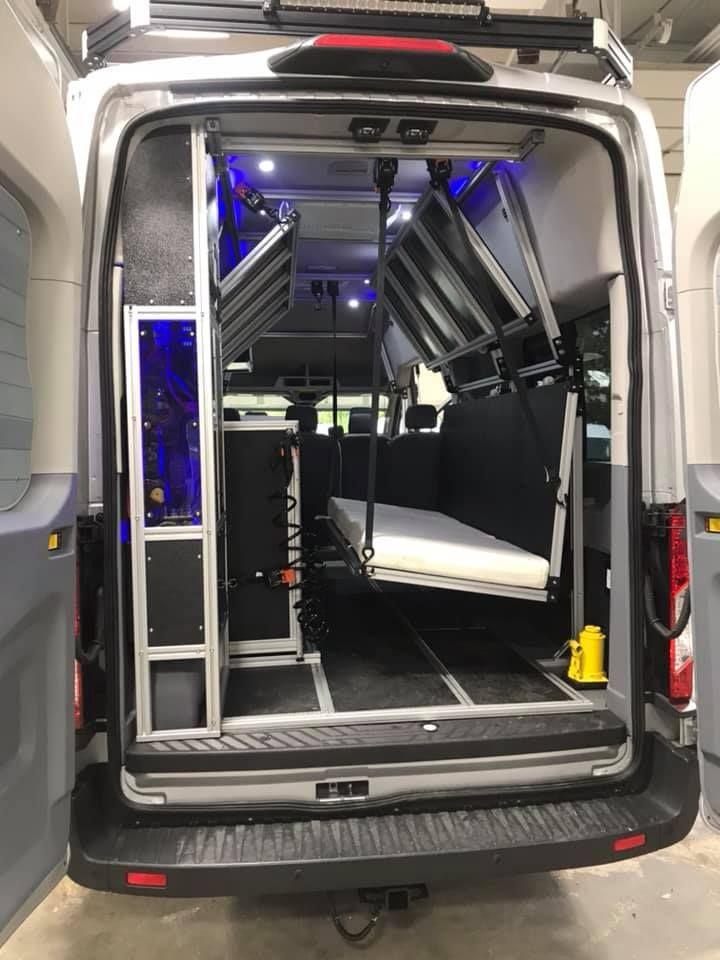 Vandoit Camper Van With Drop Down Bed System Ford Transit Ford Transit Camper Ford Transit Conversion