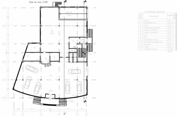 Проект здания автосалона с СТО. План 1 этажа - Комплекс зданий автосалон и сто…