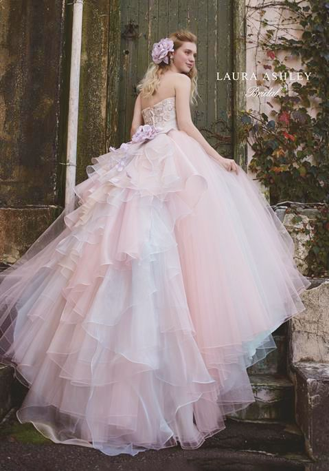 If you're looking for a princess-worthy look, don't miss this pastel pink x blue ball gown from Laura Ashley!