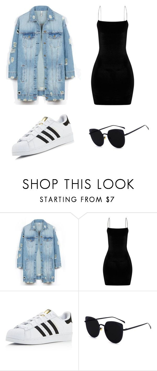 """""""casual"""" by juliadb on Polyvore featuring LE3NO and adidas"""