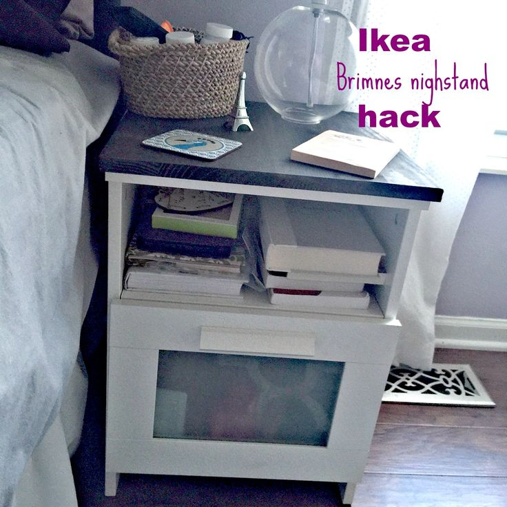 Ikea Brimnes Nightstand Hack. An Easy DIY To Dress Up The