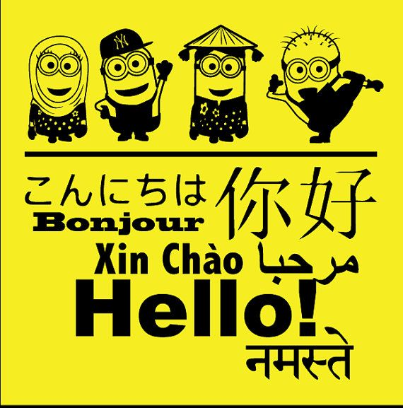29 best hello different languages images on pinterest different multicultural minions hello in different languages english french chinese japanese vietnamese m4hsunfo