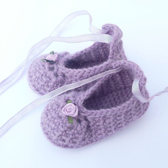 BABY Booties CROCHET PATTERN Posh Purple Party Baby Shoes - Instant Download