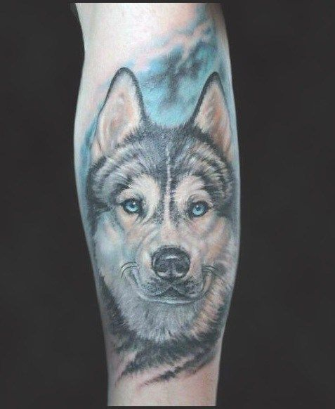 1a88d98c5 80 Siberian Husky Tattoo Designs For Men - Dog Ink Ideas #husky #siberian # tattoo #tattooideas #siberianhuskytattoo