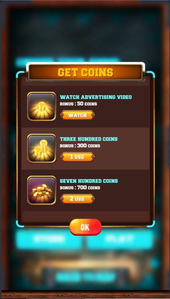 Game Store Design for Mobile Game The Titan Archers