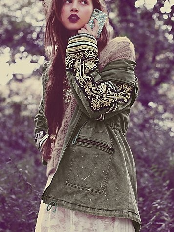 Golden Quills Military Parka. http://www.freepeople.com/whats-new/golden-quills-military-parka/