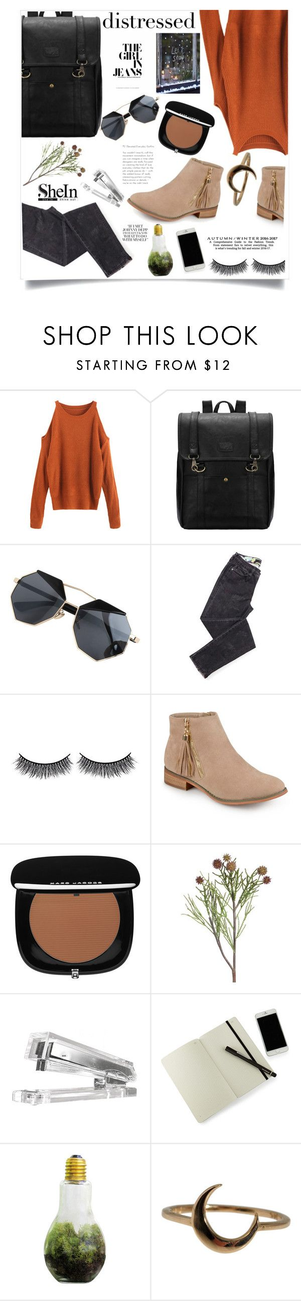"""Iris and Ink"" by violet-peach ❤ liked on Polyvore featuring Battington, Journee Collection, Marc Jacobs, Moleskine, Dot & Bo and Lulu Frost"