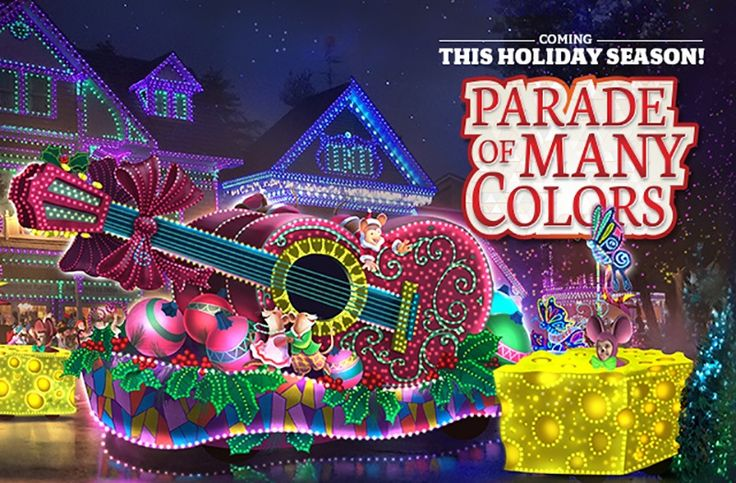 """Dollywood's new Parade of Many Colors will take place nightly beginning at 8 p.m. during the Smoky Mountain Christmas festival from November 5 - January 1. Dollywood states that the new parade will feature """"vibrant floats, interactive characters and a number of other surprises sure to inspire guests with its heart-warming message."""" Dollywood has invested $2.5 million into this new parade to ensure that it will be an incredible addition to the popular Christmas festival."""