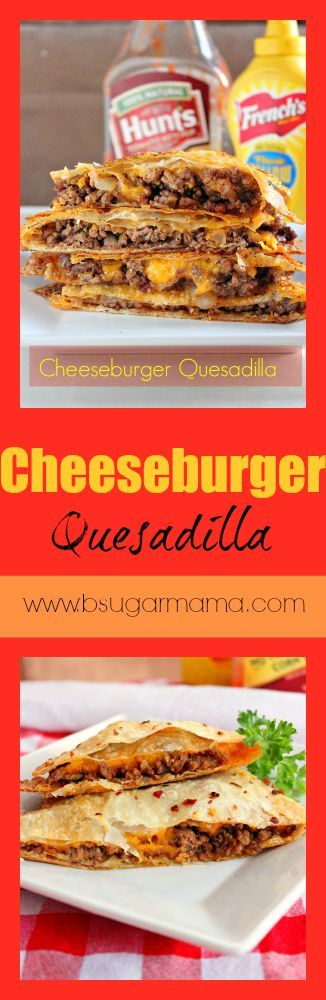 Need a fast dinner recipe? Try these Cheeseburger Quesadillas!