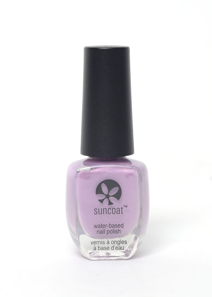 suncoat nail polish in Lilac Suncoat water-based nail polish contains ~70% water. When applied, water vapor is released in to the air, not chemical fumes. Thus Suncoat water-based nail polish is: environmentally friendly does not dry or discolor nails virtually odor-free non-flammable Mineral pigments and natural colorants