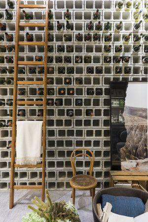 Adega de blocos de concreto vazado: conceito criado pelo escritório TRiART