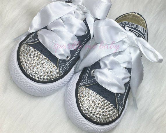 b942db10012ff Baby Converse - Custom Converse Bling Infant / Toddler - Swarovski ...