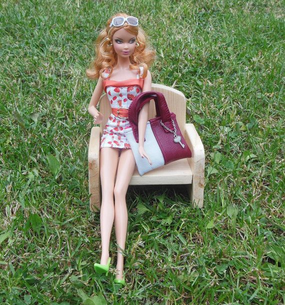 Leather Handbag for Barbie MH... MH and Barbie by LussiFashion