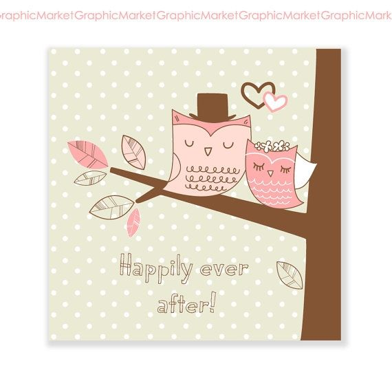 Owls Card - Luvly Marketplace   Premium Design Resources #cards #digitalcards