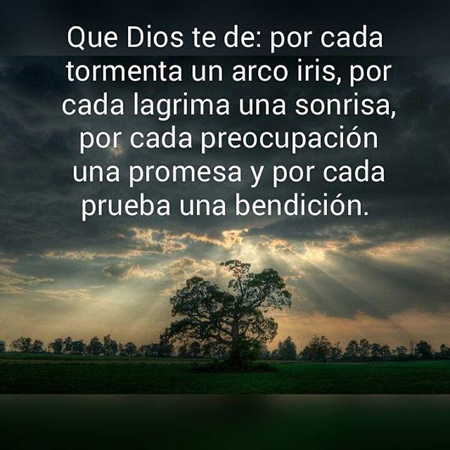 Bendición Celta Que Dios te de: por cada tormenta un arco iris, por cada…