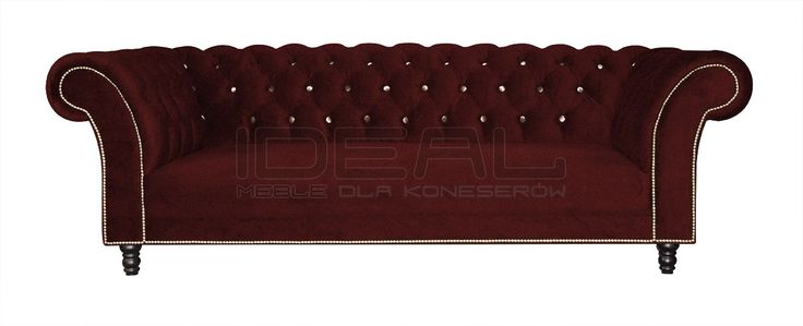 Sofy Stylowe - Sofa Chesterfield Kent - Ideal Meble Chesterfield Sofas, Armchairs, Sectionals, Sleepers | Leather, Fabric, Linen | red, czerwona, bordowa, burgund