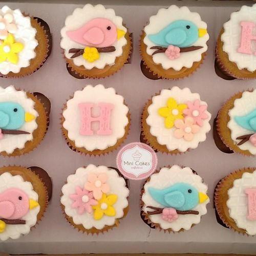 Cupcake Chá de Bebê Passarinhos
