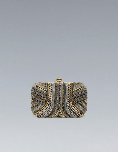 PARTY BOX BAG WITH CHAINS - Handbags - Woman - ZARA United KingdomThimble, Style, Chains Boxes, Boxes Clutches, Parties Boxes, Boxes Bags, Parties Bags, Clutches Zara, Chains Clutches
