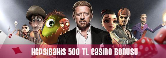 Hepsibahis'ten 500 TL Casino Bonusu