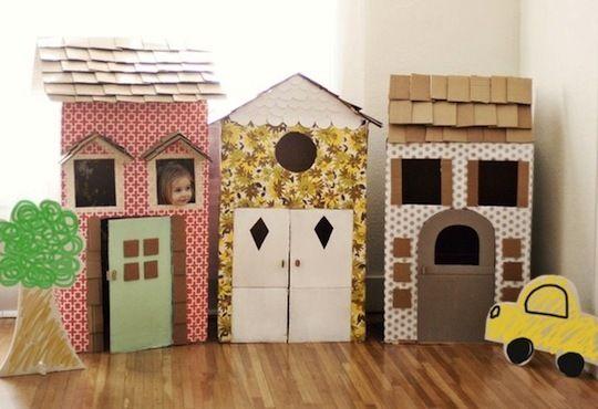 adorable cardboard houses