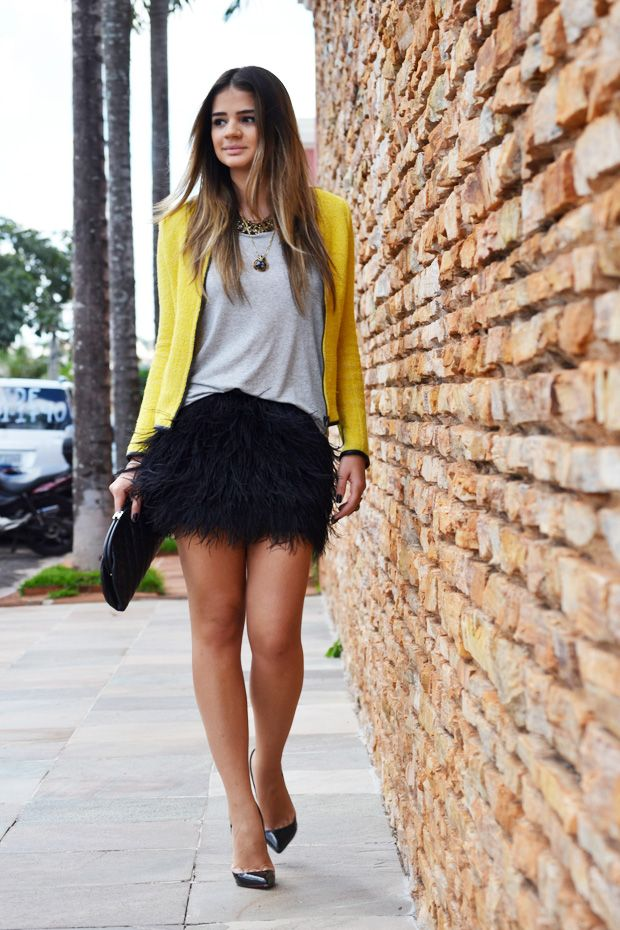 casual friday - feathered skirts  [ thassia neves - blog de thassia ]