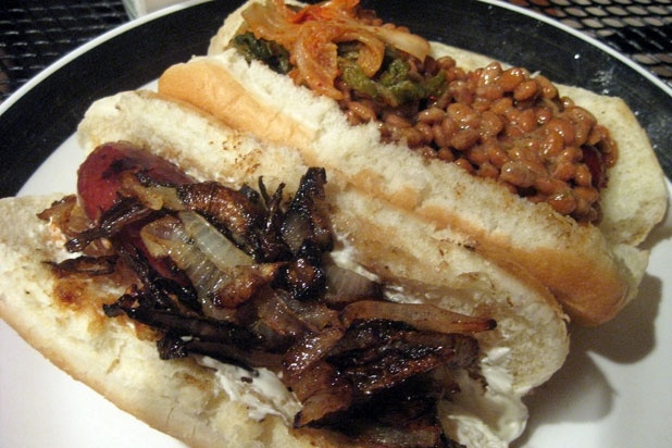 Seattle-Style Dogs (Seattle) - Dog: Pork, beef, veggie, or salmon; Bun: Grilled or steamed; Method: Grilled or boiled; Toppings: Cream cheese and onions, with or without kraut; The Spot: Matt's Gourmet Hot Dogs