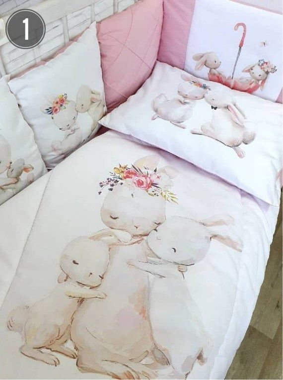 Baby Girl Crib Bedding Set Crib Bumper Pads Boy Crib Bedding Etsy In 2020 Baby Girl Crib Bedding Sets Girl Crib Bedding Sets Baby Crib Bedding Sets