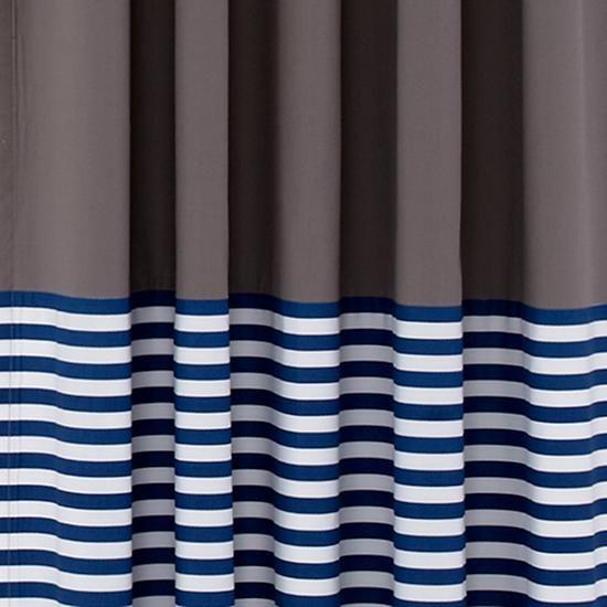 New School Curtain Panels (Blue Stripe)  | The Land of Nod