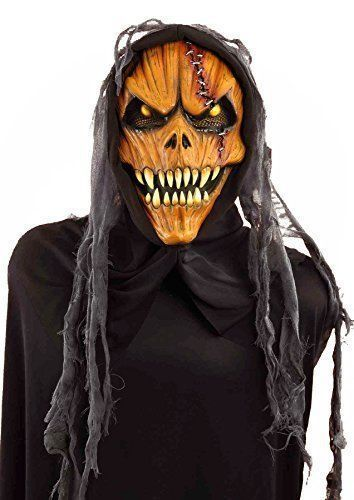 Pumpkin Scary Mask Halloween Monster Part Costume Accessory Adult One Size New #Forum