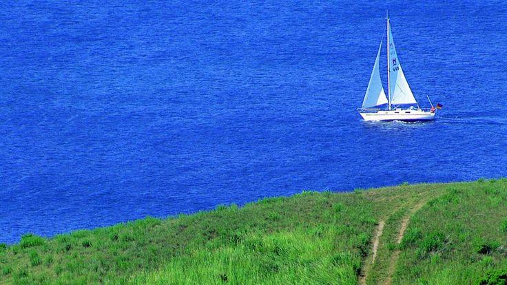 Sailing near Samsoe (Denmark)