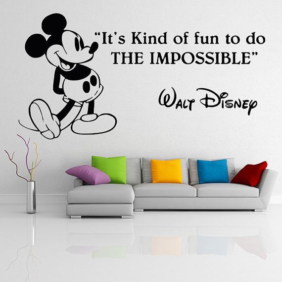Mickey And Minnie Vinyl Wall Decal Disney Wall Decal Sticker Vinyl Decal  Vinyl Sticker Wall Art Wall Decal Disney Wall Art Disney Decal Part 52