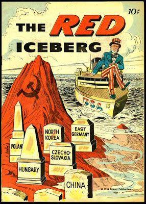 """EE.UU no se queda atras con la propaganda ideologica en contra de su rival la Union Sovietica, dando enfacis a lo que consideraban """" la amenaza roja"""" y en evitar que esta cruzara mas alla de los limites que existian entre la alemania occidental y la alemania oriental, la cual habia sido dividida por los paises vencedores despues de la segunda guerra mundial.  El llamado era el mismo que de la propaganda soviética, acabar con la ideología contraria, en este caso el capitalismo sobre el…"""