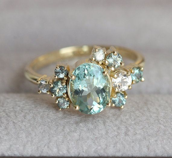 ON SALE Custom Gemstone Cluster Ring Deposit by capucinne on Etsy