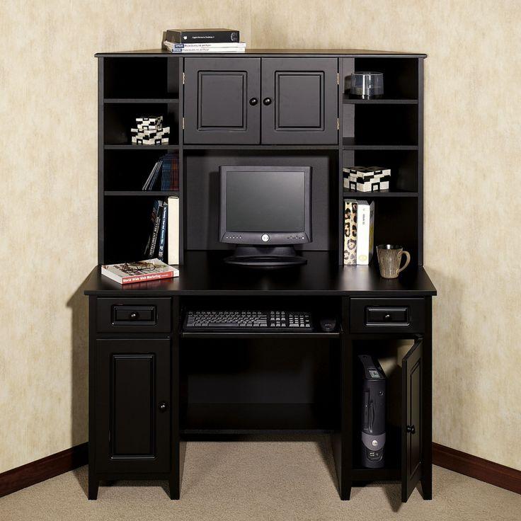 Corner Desk With Hutch Auston Black
