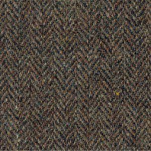 weathered golden brown herringbone harris tweed