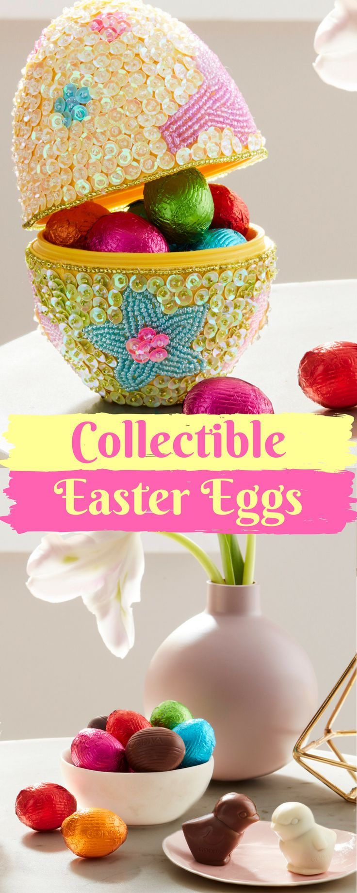 55 best our easter delights images on pinterest chocolate gifts filled with 12 assorted chocolate easter eggs our collectible beaded eater egg is a delightful negle Gallery