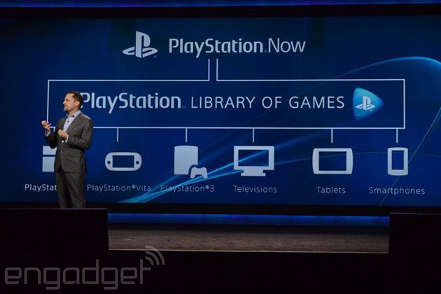 PlayStation Now streams PlayStation games to PS4, Vita, PS3, tablets and smartphones. Similar to Steam, Playstation Now is where you can buy games and stream them to any Sony devices you have (a PS3, or Sony Smartphone for instance).