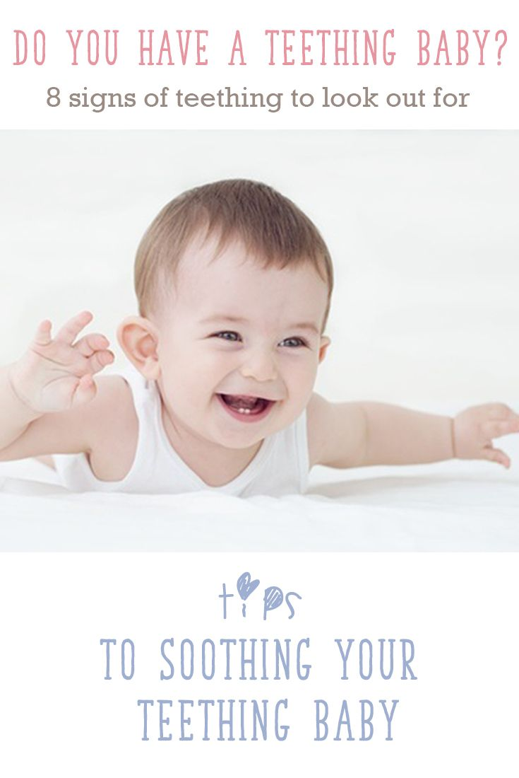 Is your baby teething? Click on to find out what are the signs and symptoms of teething and when to expect your baby's first tooth. There are also tips on How To Soothe Your Teething Baby so that you can help ease their teething pain and symptoms.