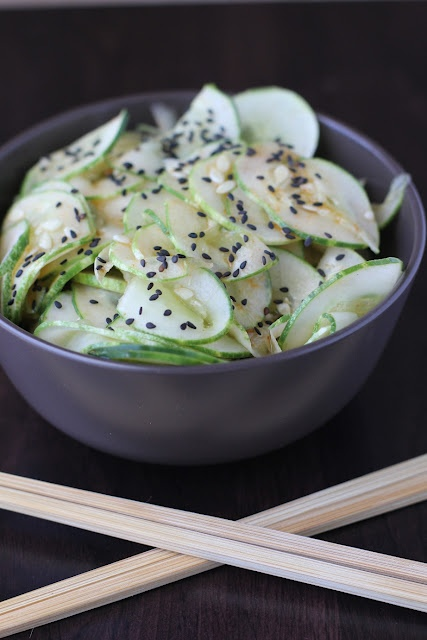 chinese cucumber salad sesame cucumber salad easy delicious side dish ...