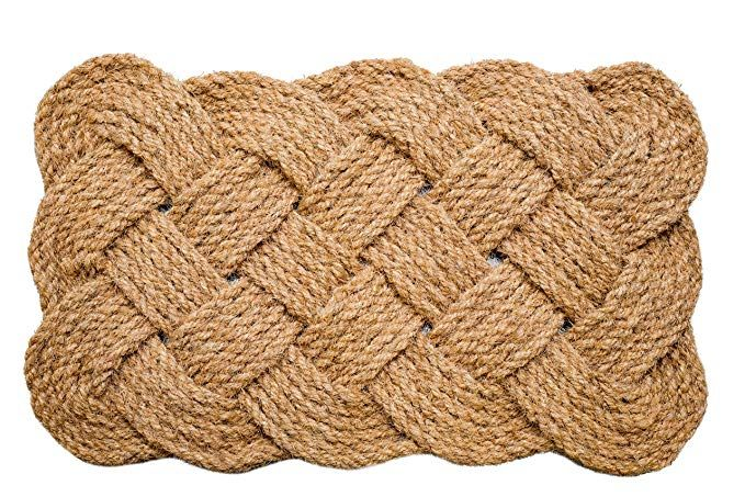 Iron Gate Natural Jute Rope Woven Doormat 18x30 Single Pack 100 All Natural Fibers Eco Friendly Classic Interwov Rope Weave Rope Design Natural Jute