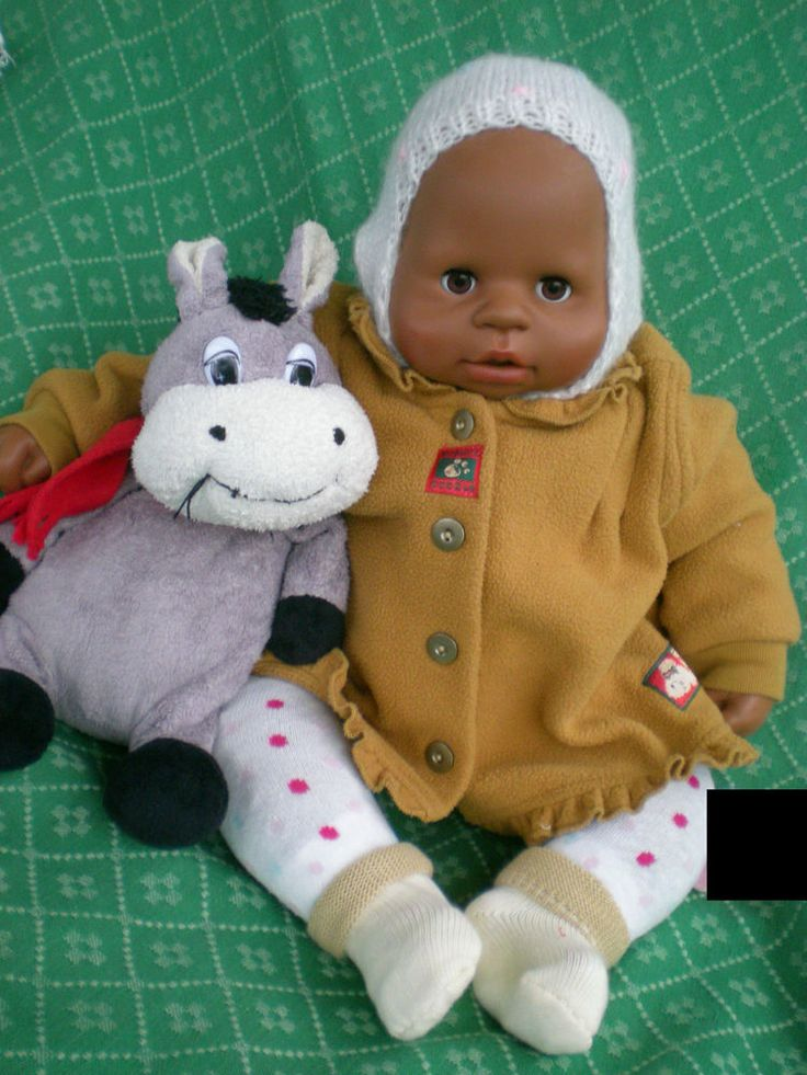 dunkle Zapf Puppe Chou Chou 48cm 2005+ viel Zubehör spricht deutsch + französich