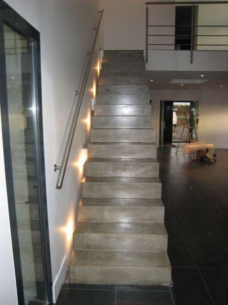 Les 25 meilleures id es de la cat gorie escalier beton - Escalier beton lisse ...
