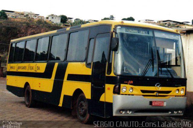 Ônibus da empresa Comércio Lubrificantes Peças, carro 4725, carroceria CAIO Alpha Intercity, chassi Mercedes-Benz OF-1318. Foto na cidade de Conselheiro Lafaiete-MG por SÉRGIO CANUTO::Cons.Lafaiete|MG, publicada em 13/11/2011 19:59:39.