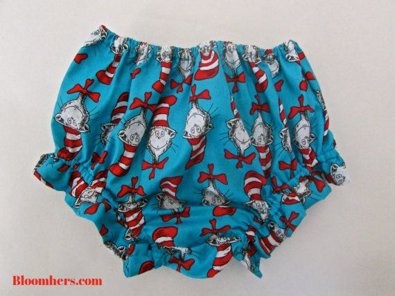 Modern and funky baby/toddler diaper covers Dr Seuss by BloomHers