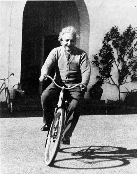 """""""Life is like riding a bicycle. To keep your balance you must keep moving.""""    - Albert Einstein"""