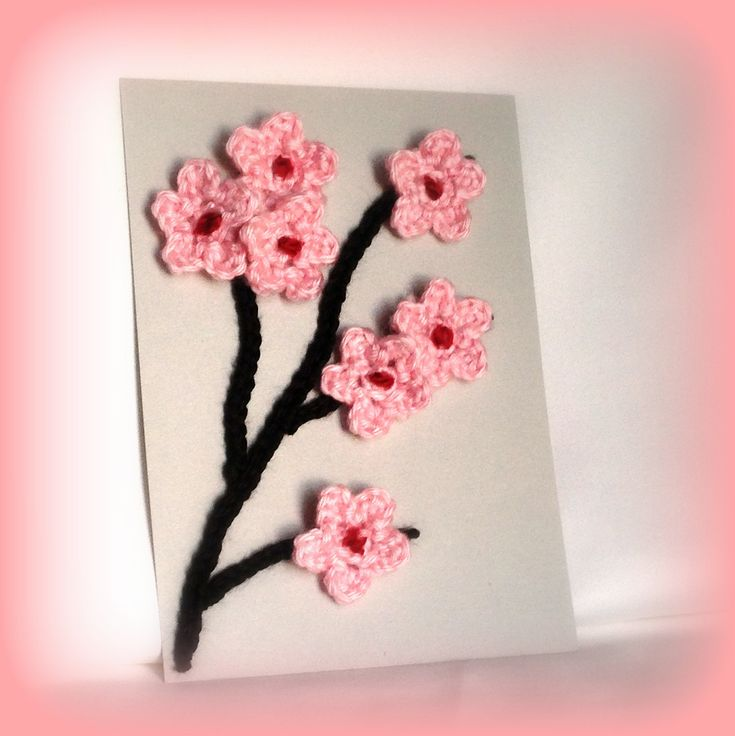 10 best images about cherry blossom on pinterest free pattern cherry blossom tree and free Crochet home decor on pinterest